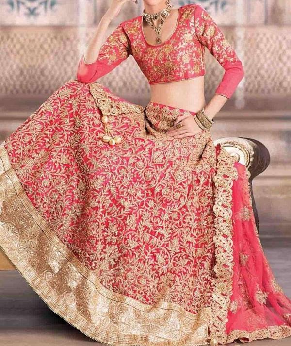 Deep Pink Bridal Lehenga