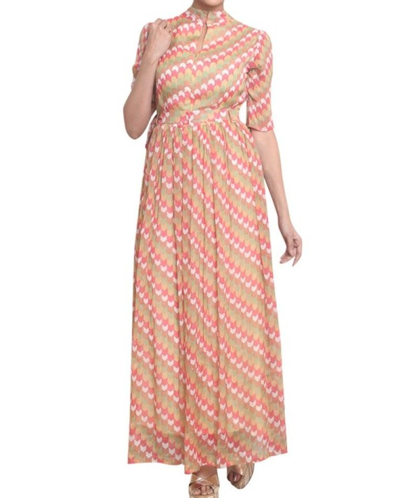 Readymade Printed FAncy Gown