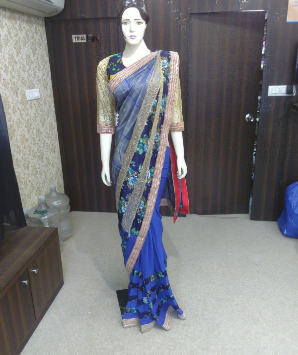 Double Blouse Saree