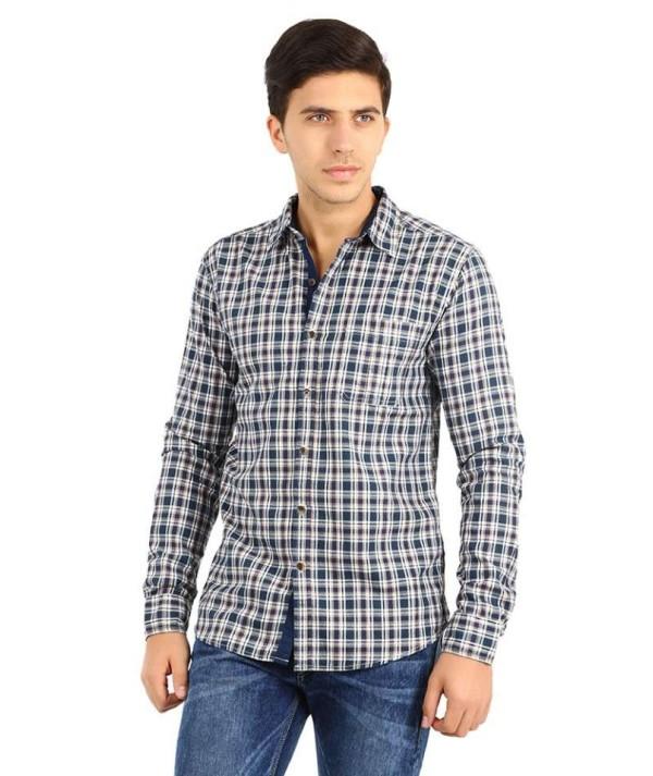 Men's Full Sleeve Green Check Shirt