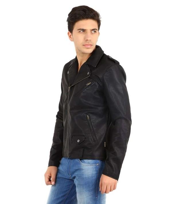Black Men's Biker Jacket