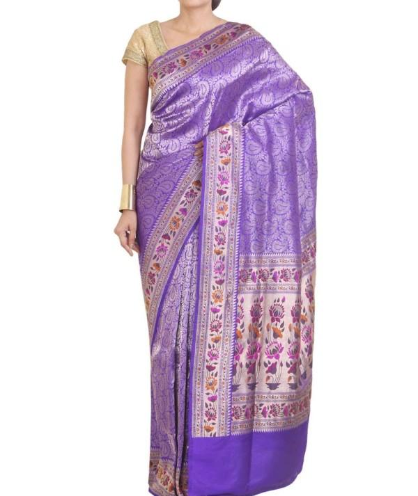 Minakari Banarasi Silk Saree