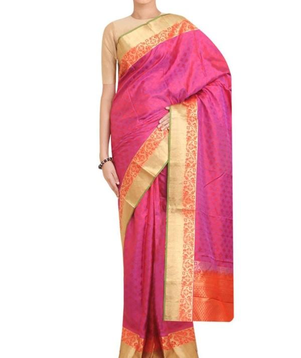 Wedding Pink Kanjivaram Saree