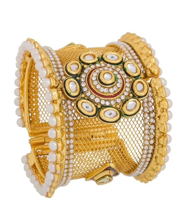 Wedding Kada With STone Work