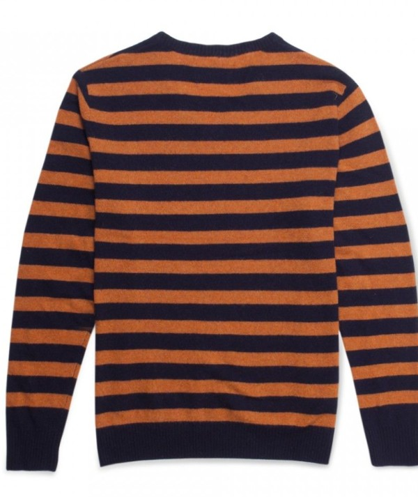 Bengal Striped V Neck Mens Sweaters