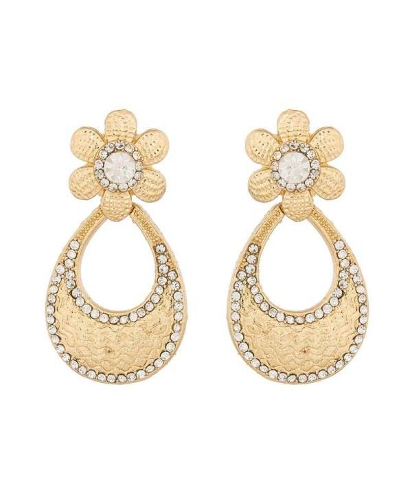 White Stone & AD Earrings