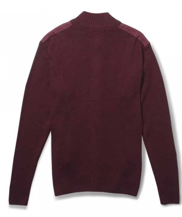 Classic Shoulder Patched Mens Sweater