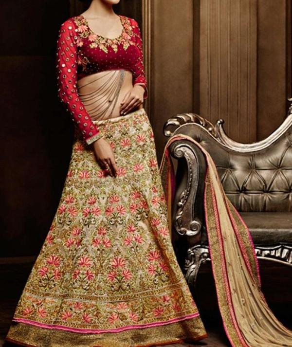 Chanderi Silk Wedding Lehenga