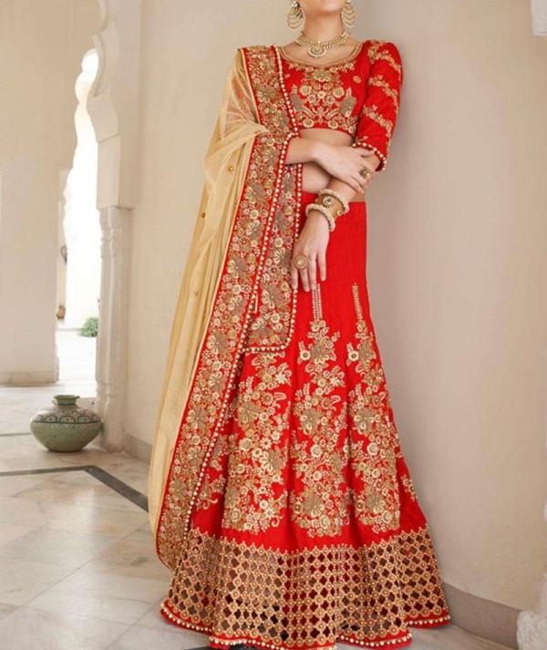 Red Colour Lehenga For Wedding