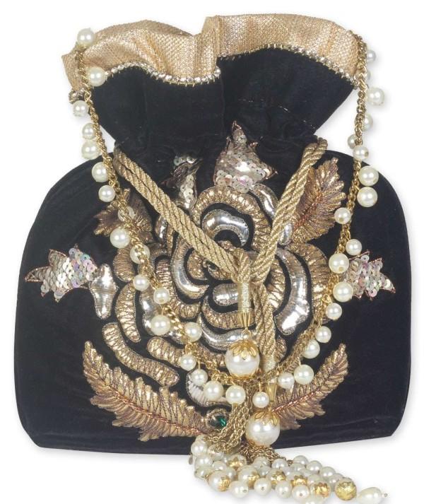 Black Designer Potli Bag