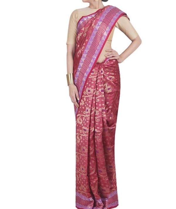 Multi Colour Pure Silk Saree