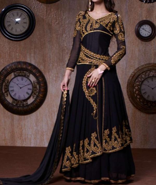 Black Abaya Style Salwar Suit
