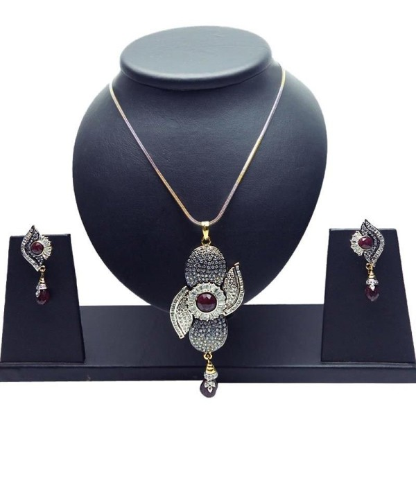 White, Maroon & Gold Pendent
