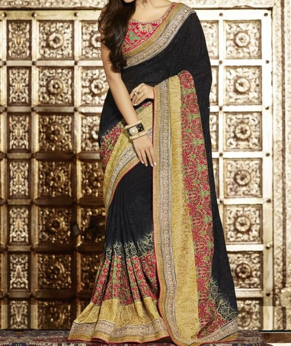 Viscose Georgette Fancy Saree