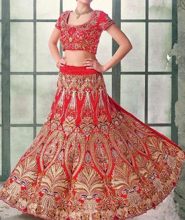 Stunning Red Wedding Lehenga