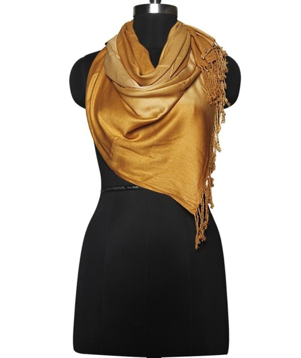 Shaded Golden woolen Stole
