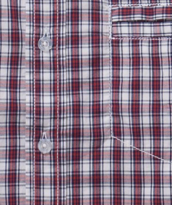 Yarn Dyed Checks With Chambray Mens Shirt