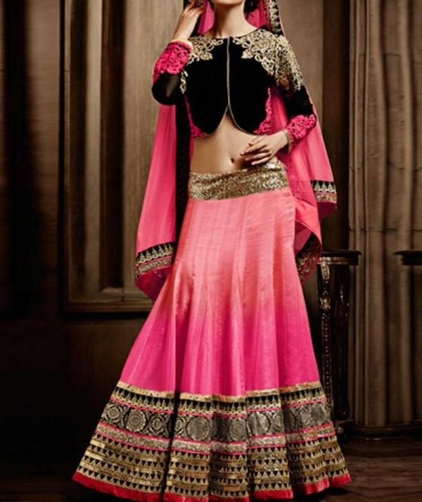Fancy Pink Wedding Lehenga
