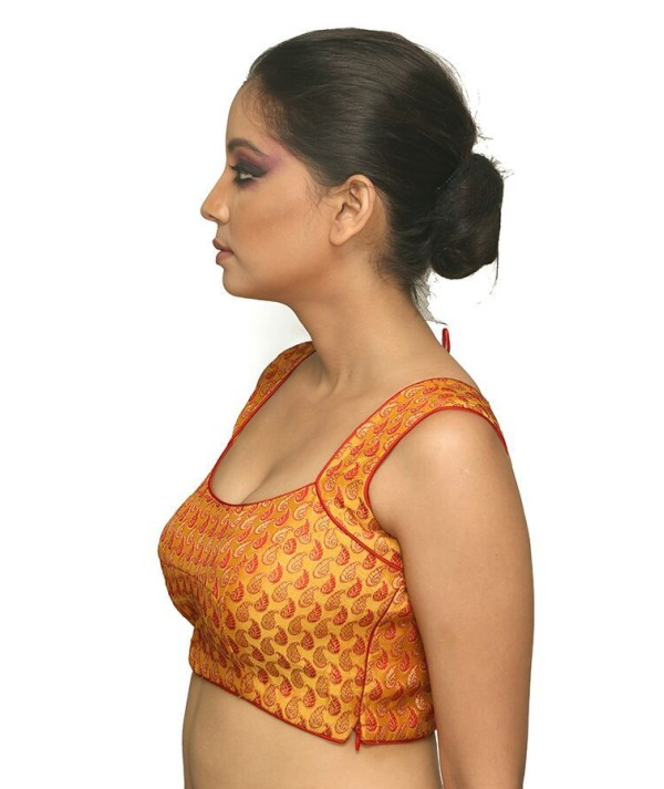 Designer Orange Blouse