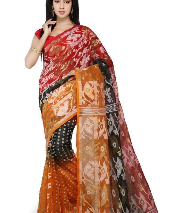 3D Jamdani Handloom Saree