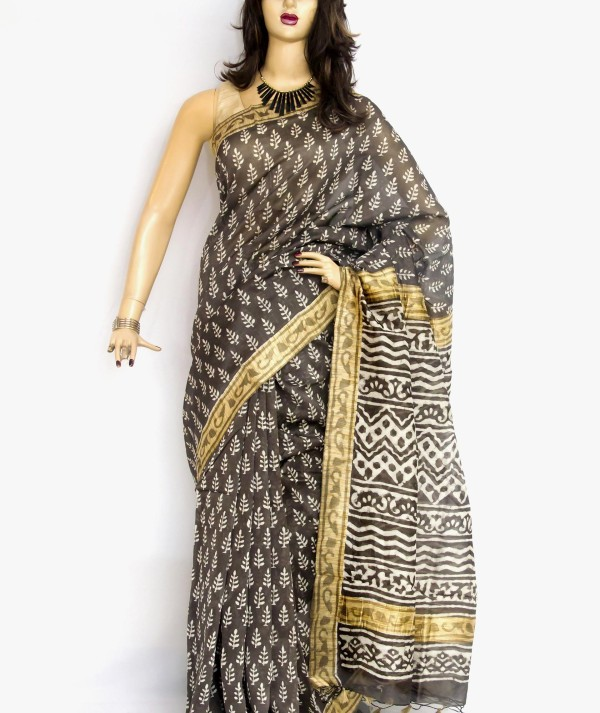 Women Maheshwari Print Saree