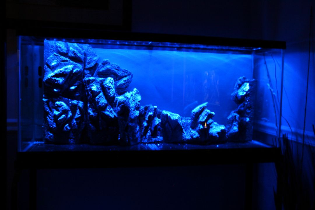 Как сделать фон на аквариум 105
