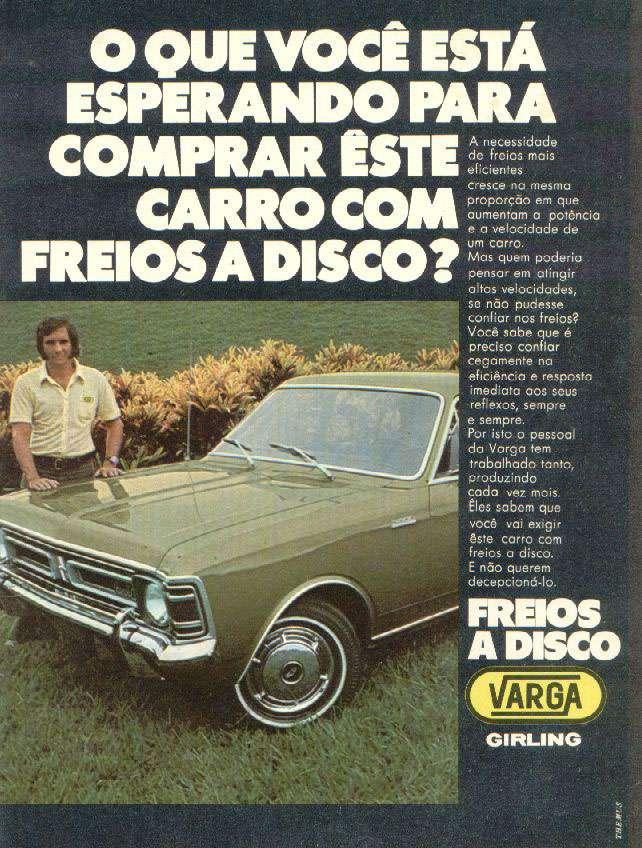 O que você está esperando para comprar este carro com freios a disco Varga?