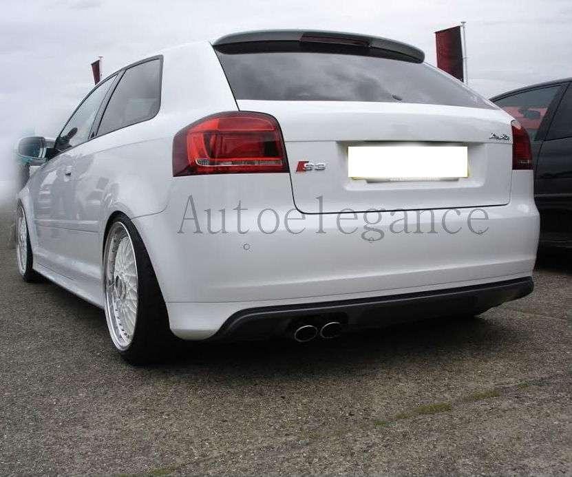 SPOILER Diffusore Sottoparaurti Posteriore Per Audi A3 8p