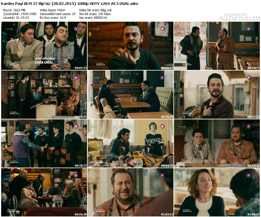 Kardeş Payı 27.Bölüm Bipsiz (28.02.2015) 720p HDTV DUAL