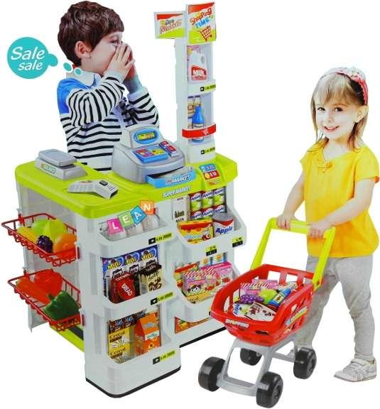 kaufladen supermarkt mit zubeh r kinderladen kasse. Black Bedroom Furniture Sets. Home Design Ideas