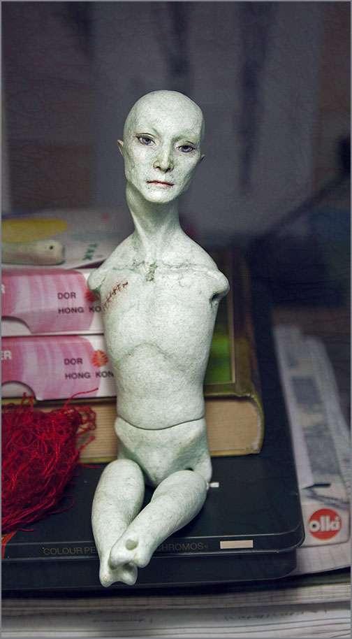 Кукла из папье-маше шарнирная своими руками 15