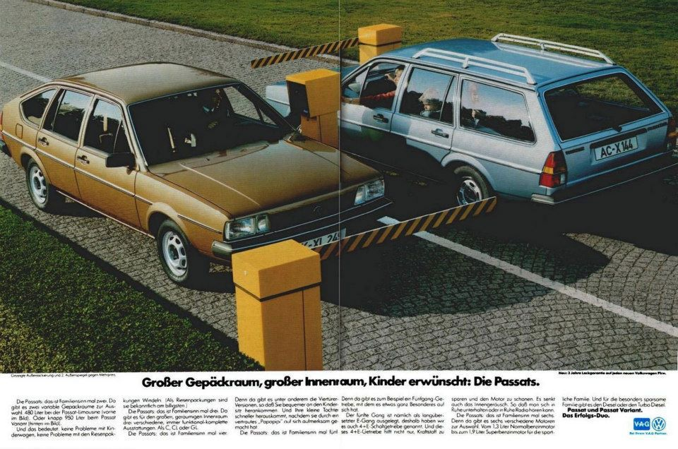 Großer Gepäckraum, großer Innenraum, Kinder erwünscht: Die Volkswagen Passats.