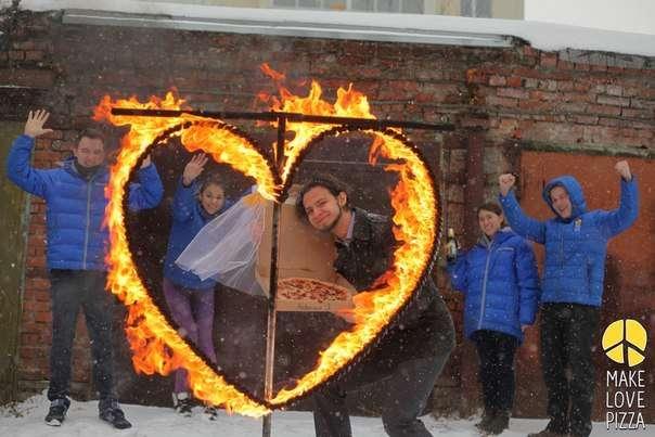 Mariage avec pizza