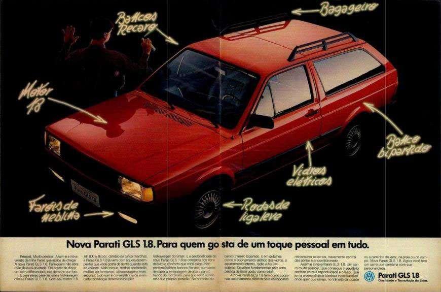 Volkswagen Parati GLS 1.8. Para quem gosta de um toque pessoal em tudo.