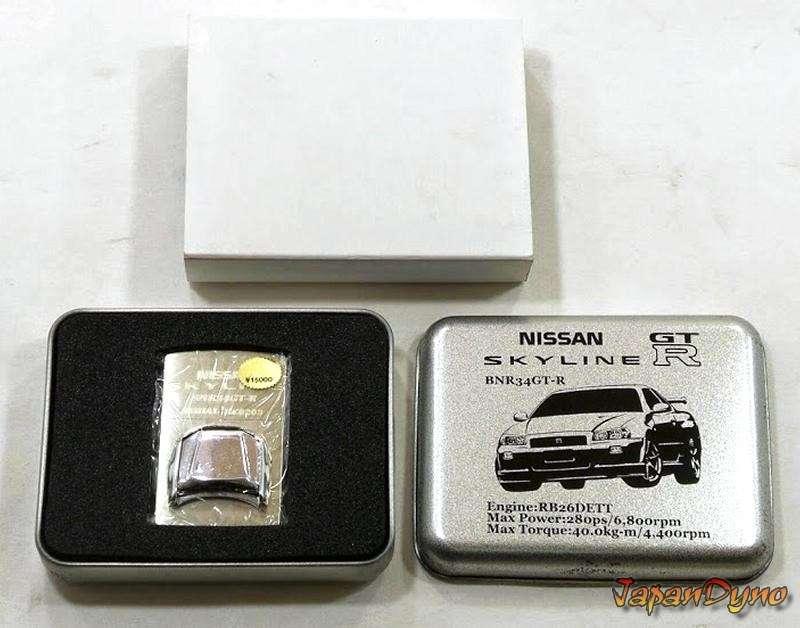 Zippo lighter Limited NR.0203 Nissan Skyline GT-R R34 BNR34 RB26