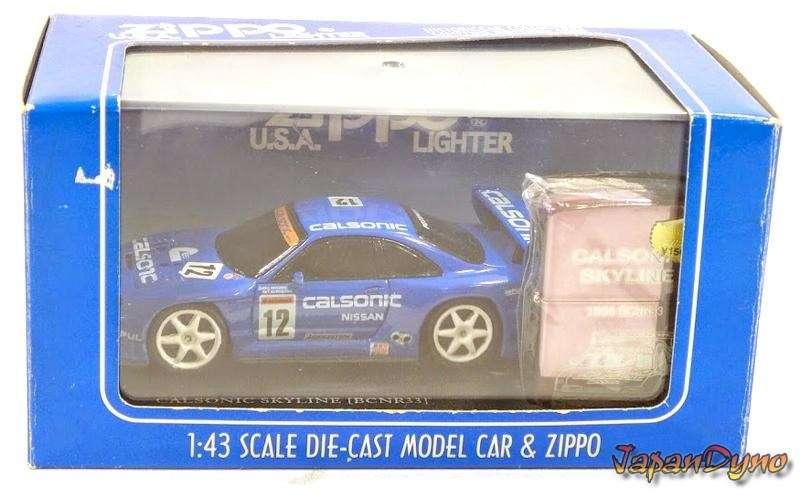 Zippo lighter+Die cast Calsonic Skyline GT-R R33 BCNR33 NR521