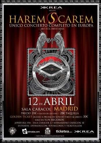 Harem Scarem en Madrid - cartel