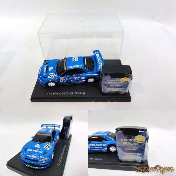 Zippo lighter+Die cast Calsonic Skyline GT-R R34 BNR34 NR.907
