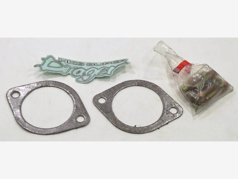 HKS exhaust gasket + bolts and Super Drager sticker catback