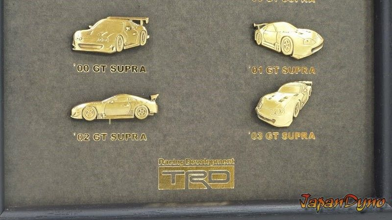 TRD All Japan Toyota Supra GT Championship History board