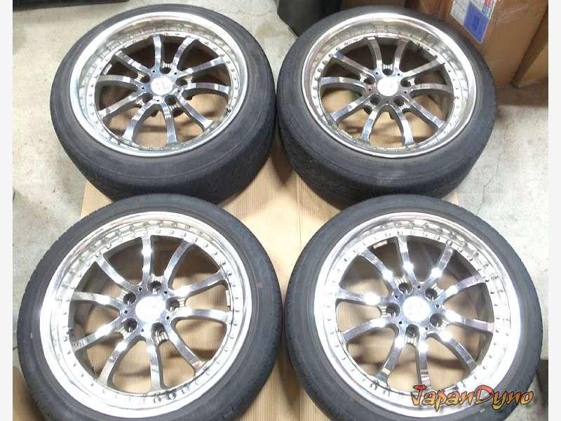 WORK Bersaglio 18 8.5J 9.5J alloy wheels rims 5x114 RX7 S14 R33