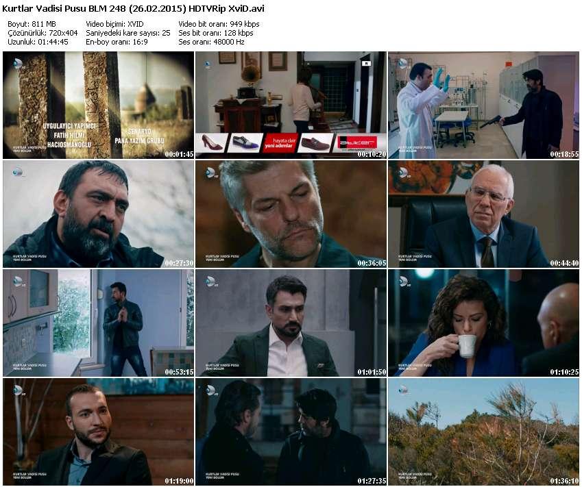 Kurtlar Vadisi Pusu 248.Bölüm (26.02.2015) Full HD 720 p