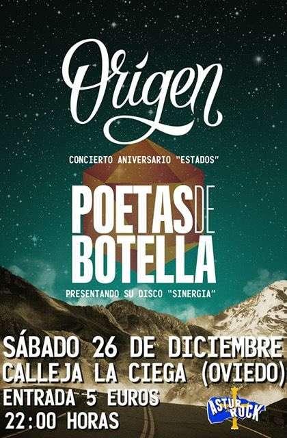 Origen - Poetas de Botella cartel