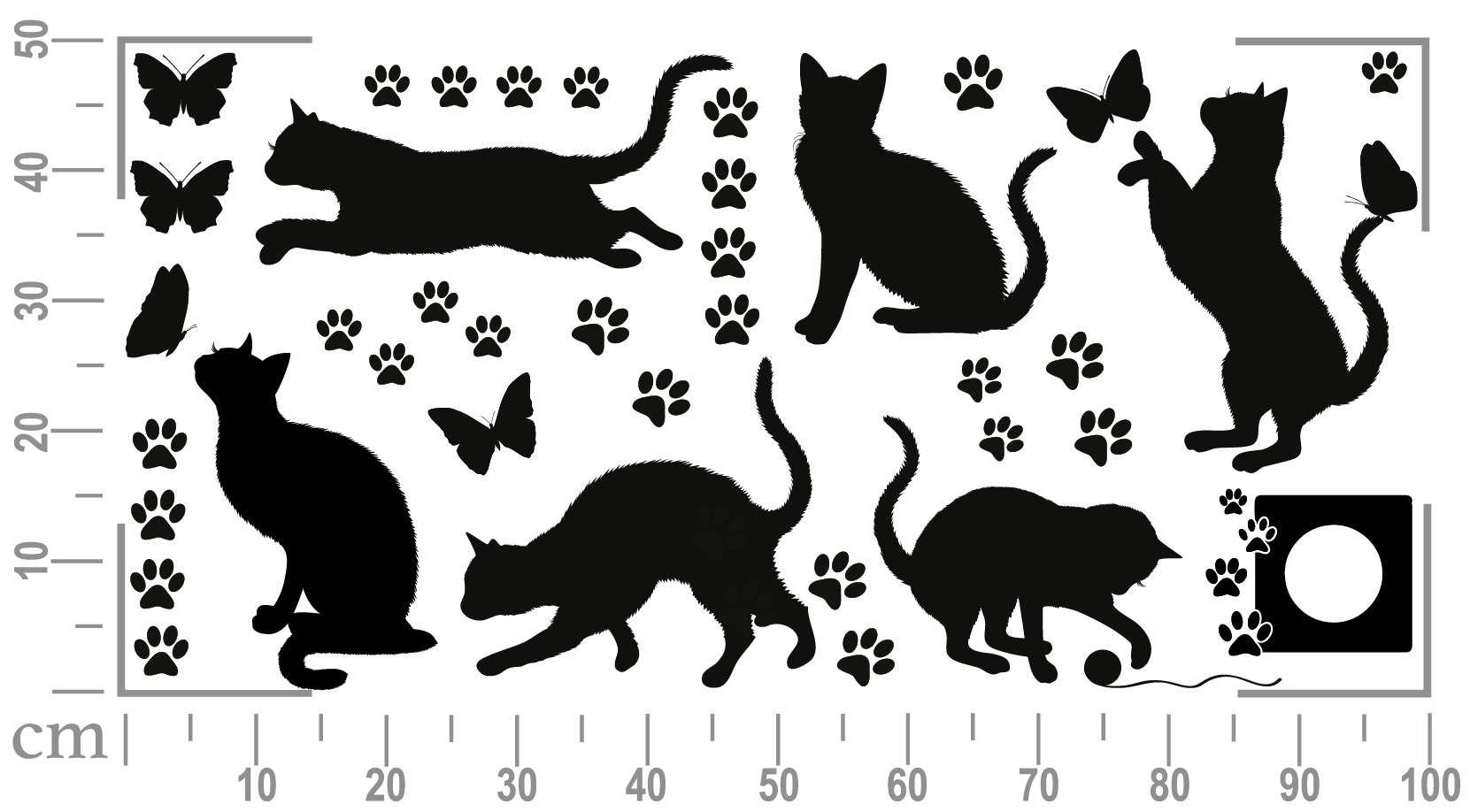 Как сделать трафарет с кошками
