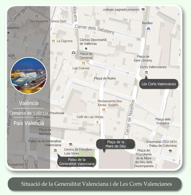 Mapa Centre València