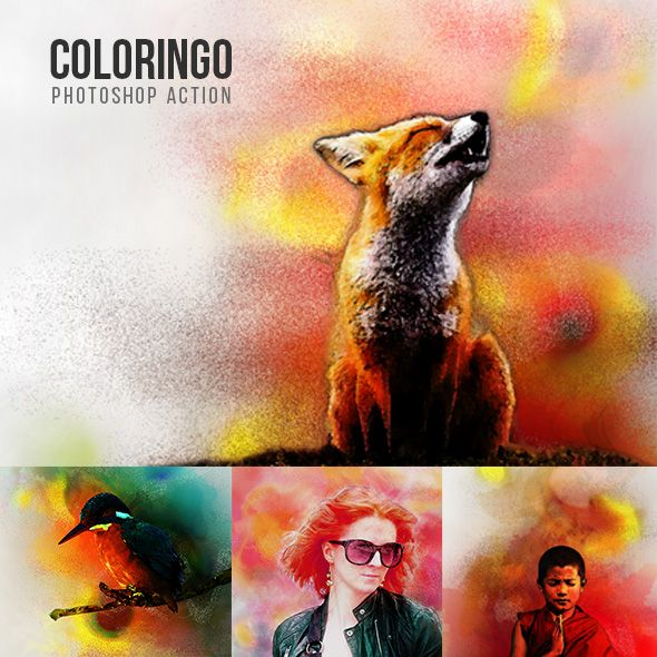 Coloringo Photoshop Action