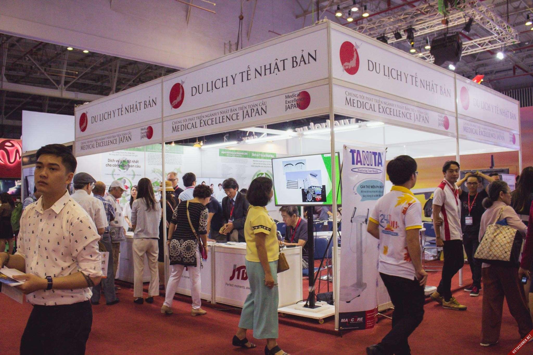 Gian hàng của đối tác Medical Excellence Japan tại Hội chợ