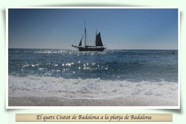 quetx Ciutat de Badalona a la platja de Badalona