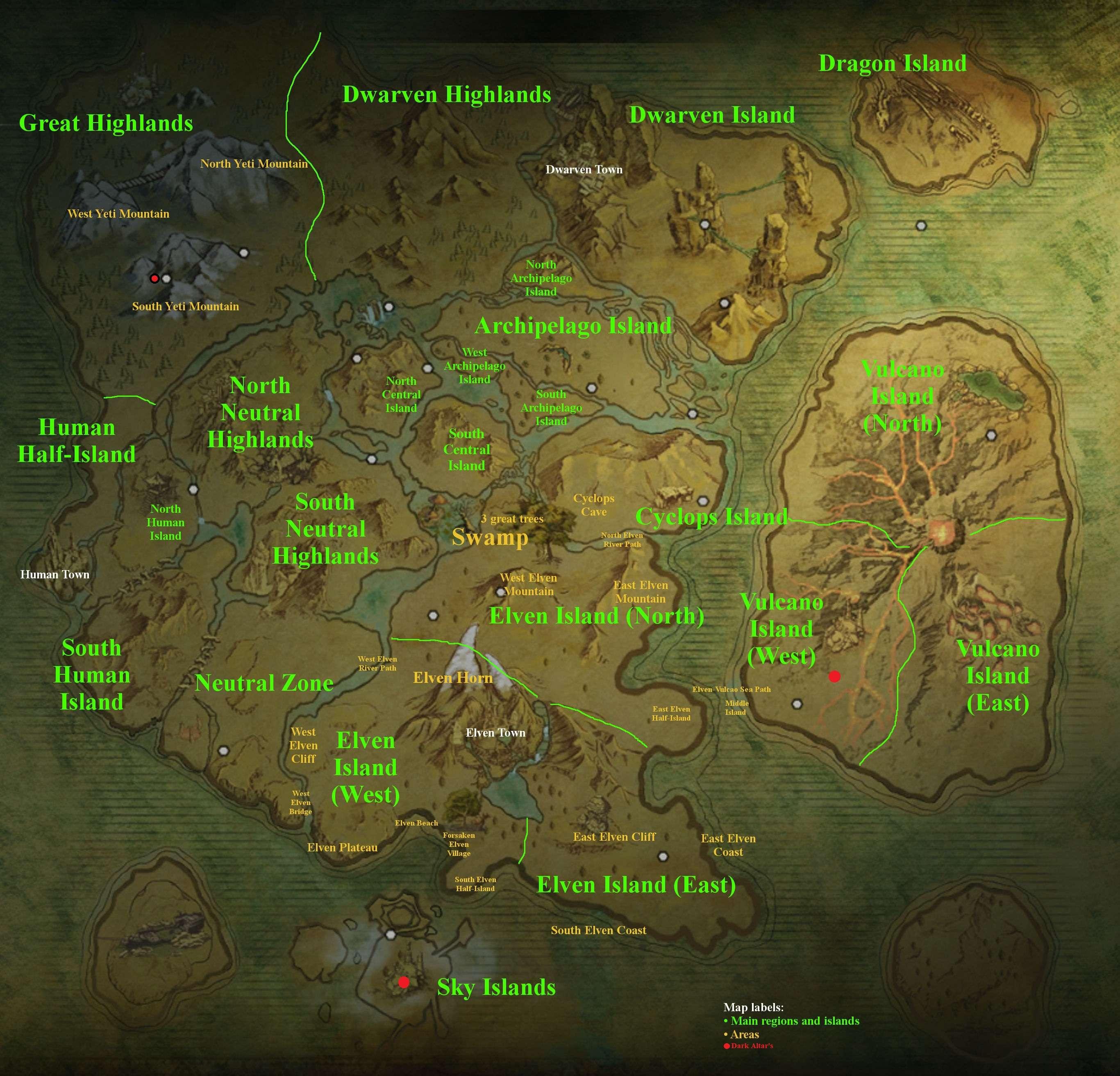 Dark And Light Island Map