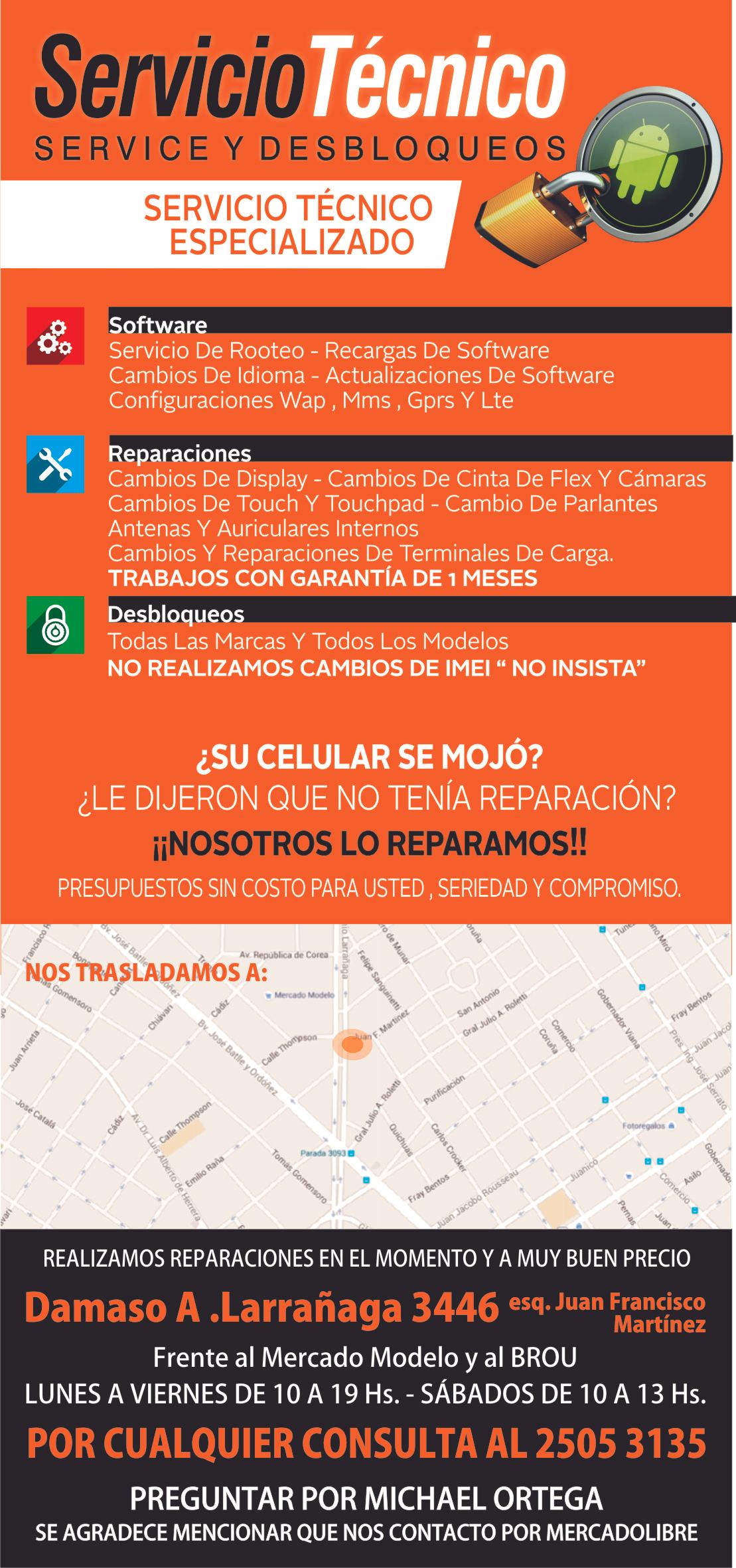 Desbloquea y Reparaciones De Celulares, Samsung, Lg, Nokias